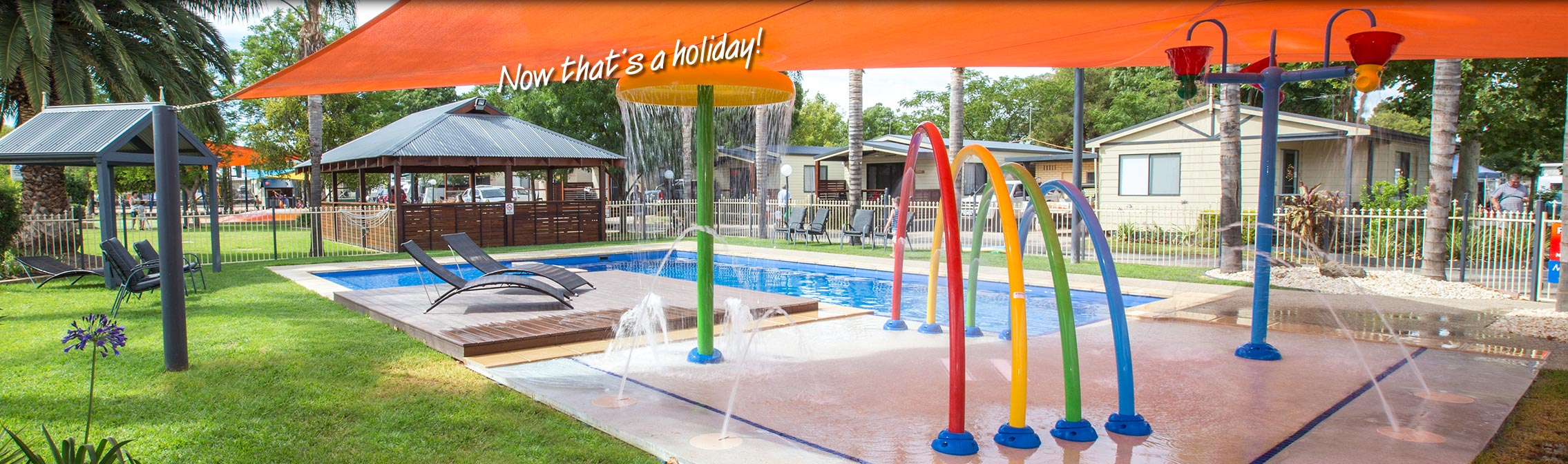Take a swim in the resort pool at All Seasons Holiday Park Mildura