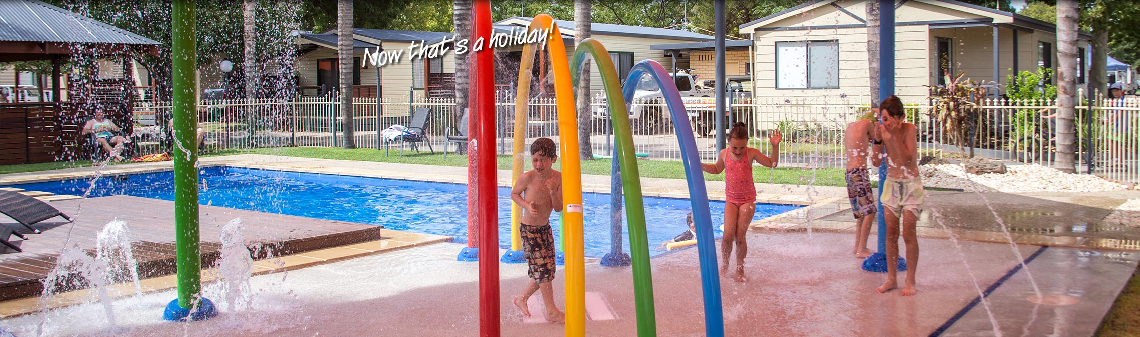 Let the kids play in the resort pool at All Seasons Holiday Park Mildura
