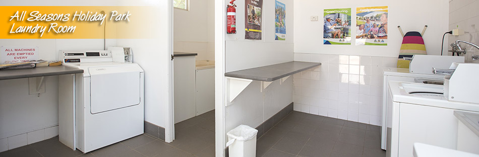 All Seasons Holiday Park laundry room