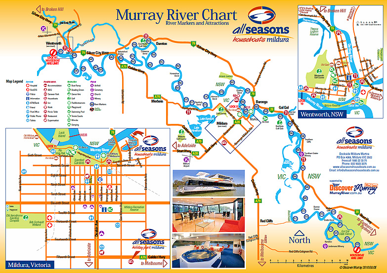 Murray River map Mildura
