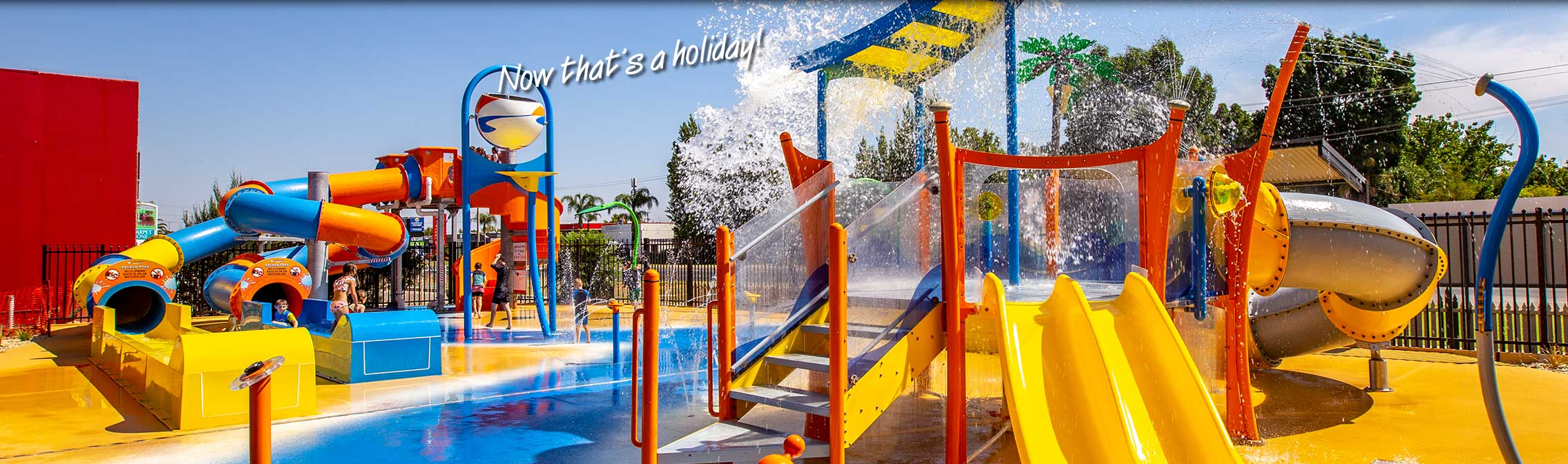 All the kids having fun at All Seasons Holiday Park Mildura